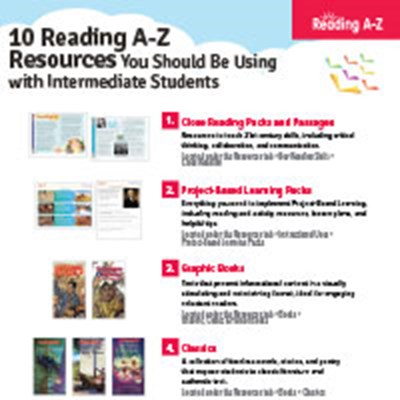 10 Reading A-Z Resources for Use With...