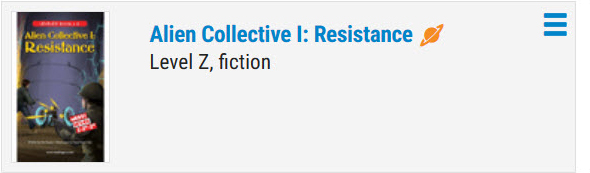 Alien Collective 1: Resistance Book