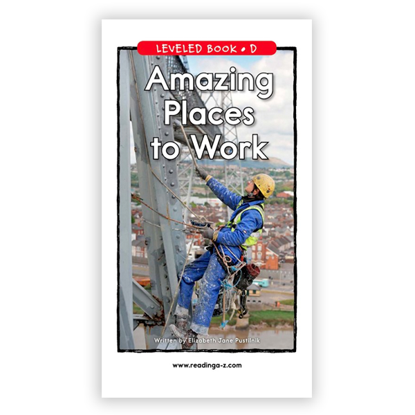 Amazing Places To Work leveled book