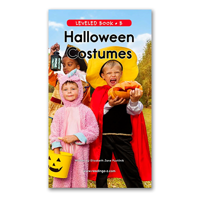 Halloween Costumes Raz-Plus and Reading A-Z leveled book