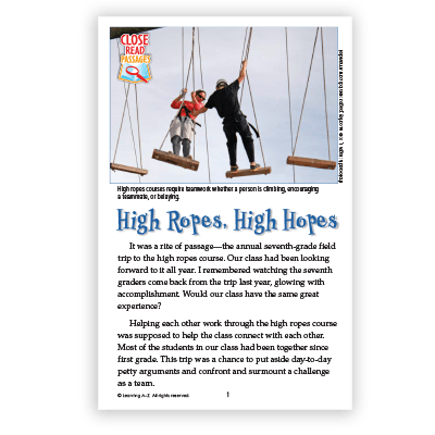 High Ropes, High Hopes