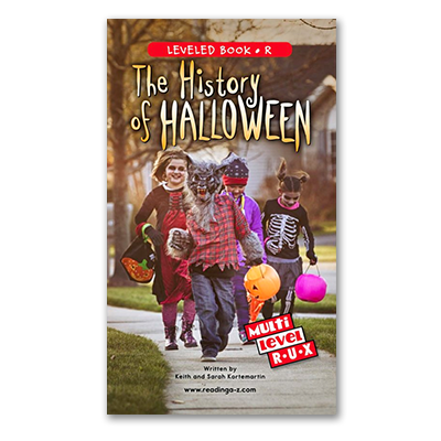 The History of Halloween Raz-Plus and Reading A-Z multi-level book