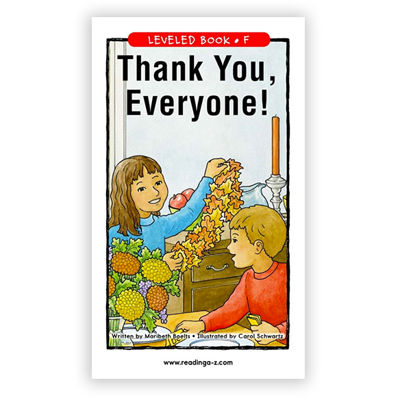Thank You, Everone! leveled book