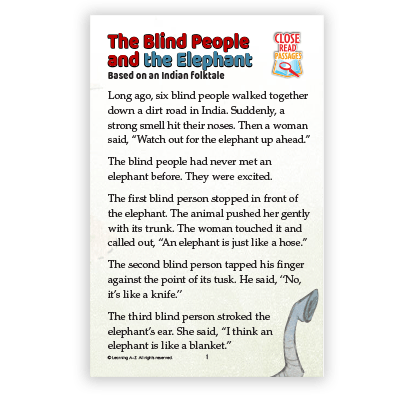 The Blind People and the Elephant
