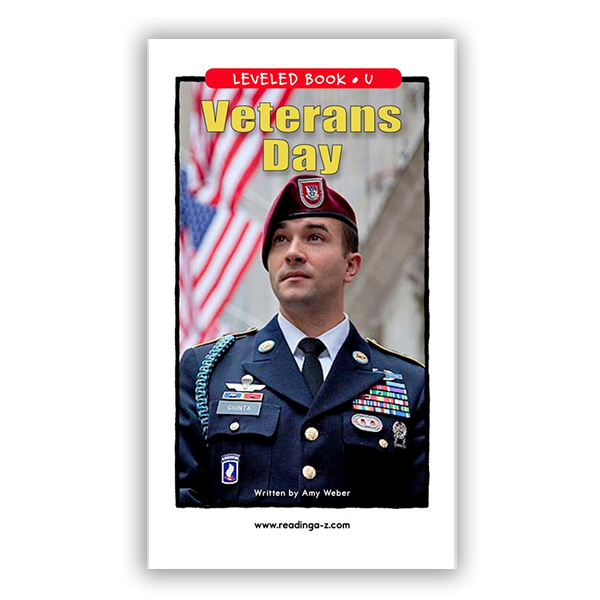 Veteran's Day leveled book