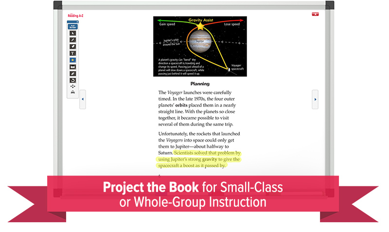 Project The Book for Small-Group or Whole-Class Instruction