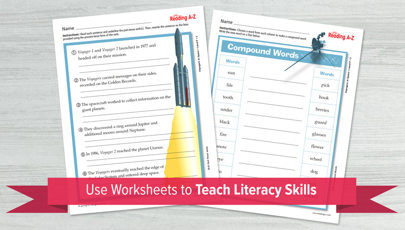 Use Worksheets to Teach Literacy